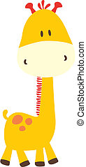 baby giraffe, vector format very easy to edit, individual objects