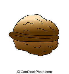 Walnut - Childish Illustration Isolated  Walnut