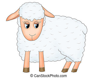 Sheep - Childish illustration of Sheep