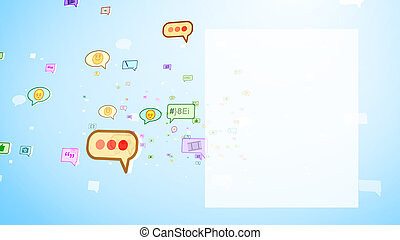 Childish Social Bubbles Moving on Screen