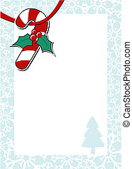childlike christmas letter - christmas frame with candy cane...