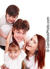 children., éducation, famille, heureux