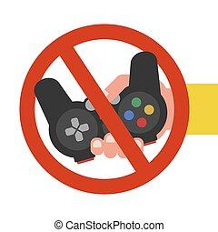 children., απαγόρευση , παιγνίδια , ηλεκτρονικός υπολογιστής...