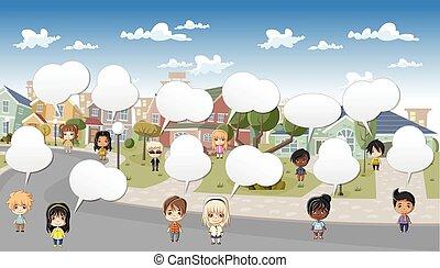 children., グループ, 漫画