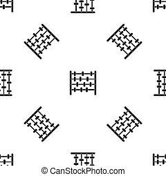 Children abacus pattern seamless black
