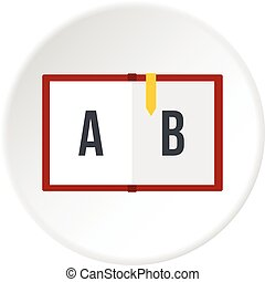 Children abc icon circle