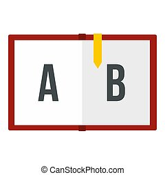 Children abc icon isolated