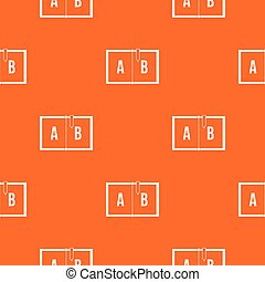 Children abc pattern seamless
