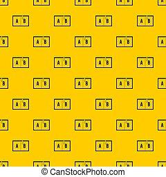 Children abc pattern