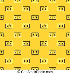 Children abc pattern vector