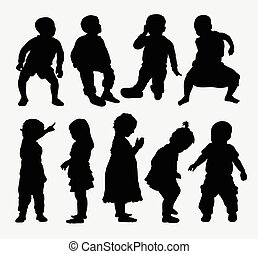 Children activity silhouettes