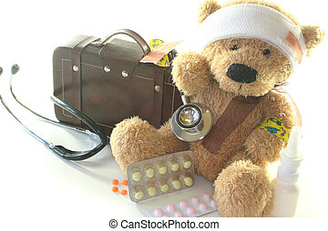 children aid kit - Kids first aid kit with Teddy, Bags,...