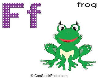 Children  alphabet ,F