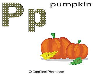 Children alphabet ,P