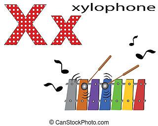 Children  alphabet ,X