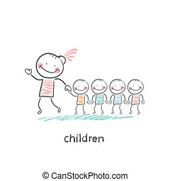 Children and adults