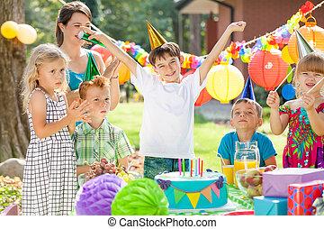 Children and birthday boy