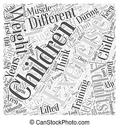 Children And Exercise Word Cloud Concept