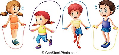 Children and jumprope