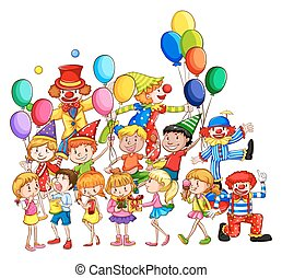 Children and party