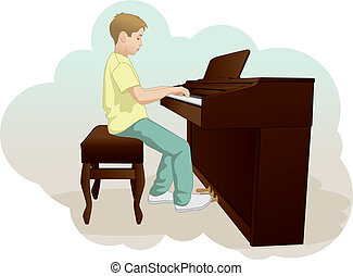 children and piano.eps