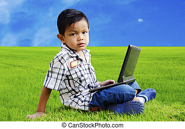 Children are using the Notebook