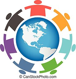 Children Around the World Logo Illustration