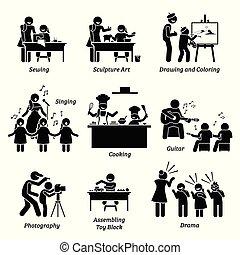 children., arts, métiers, enrichissement, programmes