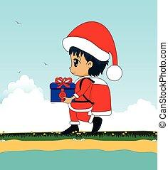 Children as Santa Claus.