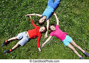 Children at break