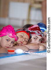 Children at the pool edge