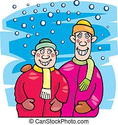 Children at winter