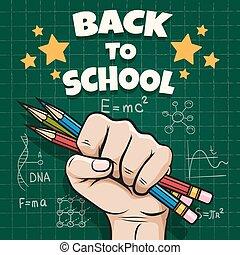 Children back to school poster