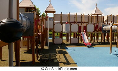 Children beautiful playground, a fortress with labyrinth...