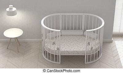 Children bedroom with crib