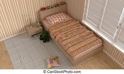 Children bedroom with toys