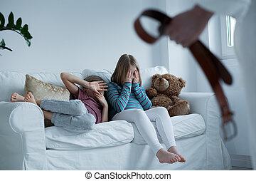Children being unsafe in their own home