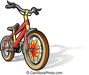 Children bicycle in bright colors, vector illustration