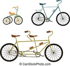 Children bicycle set - Children bicycle, tandem bike,...