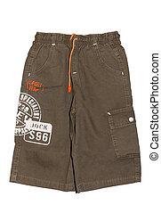 Children boy shorts isolated - Children's clothing boy khaki...