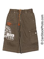 Children boy shorts isolated - Children\\\'s clothing boy...