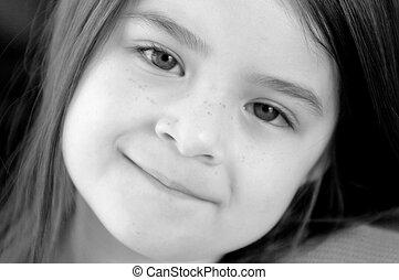 Children - B&W Close up Girl Ch