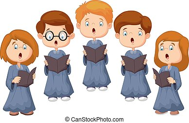 Children choir - Vector illustration of Children choir