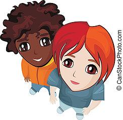 children - vector illustration of children