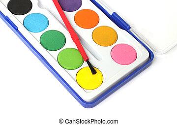 Children color palette box