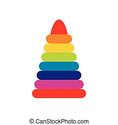 Children colorful pyramid icon