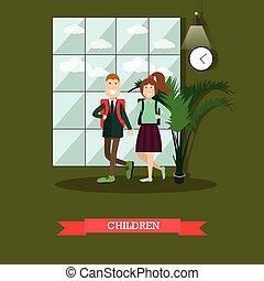 Children concept vector illustration in flat style