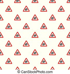 Children crossing the road pattern seamless