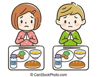 Children dissatisfied with low school lunch