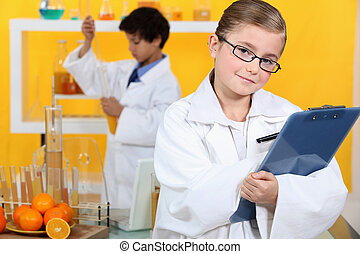 Children doing scientific activities